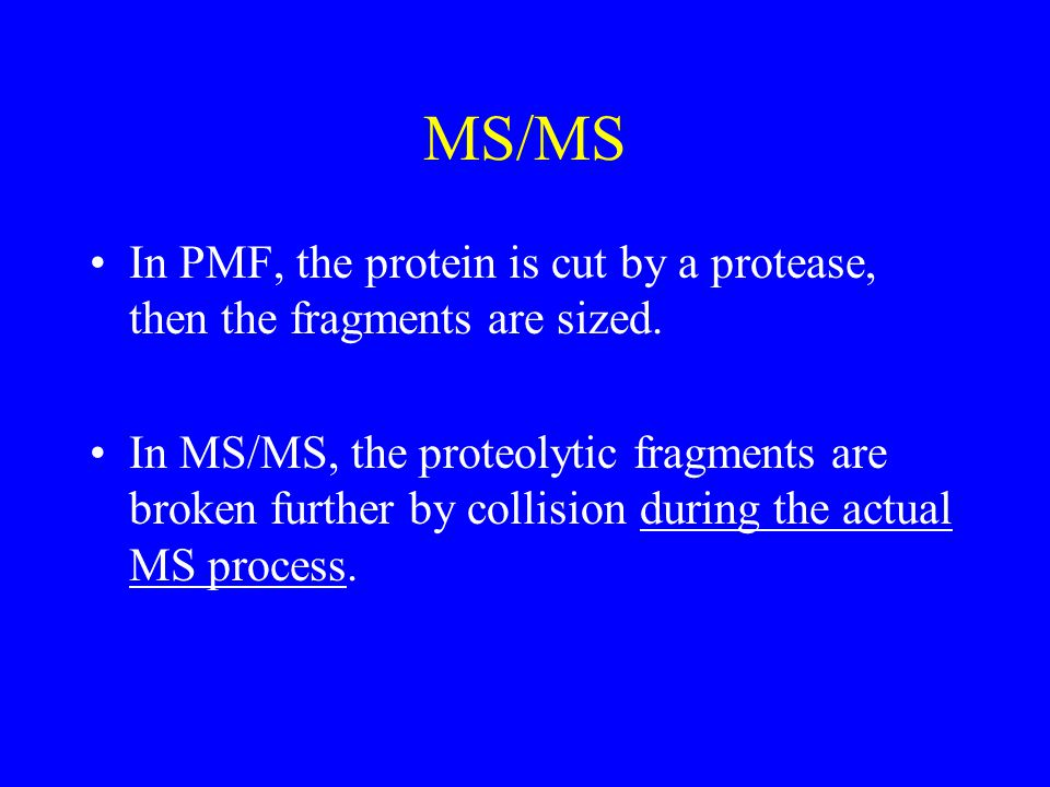 FT-MS Low fmole sensitivity R = 800,000.'twas strictly experimental four years ago.