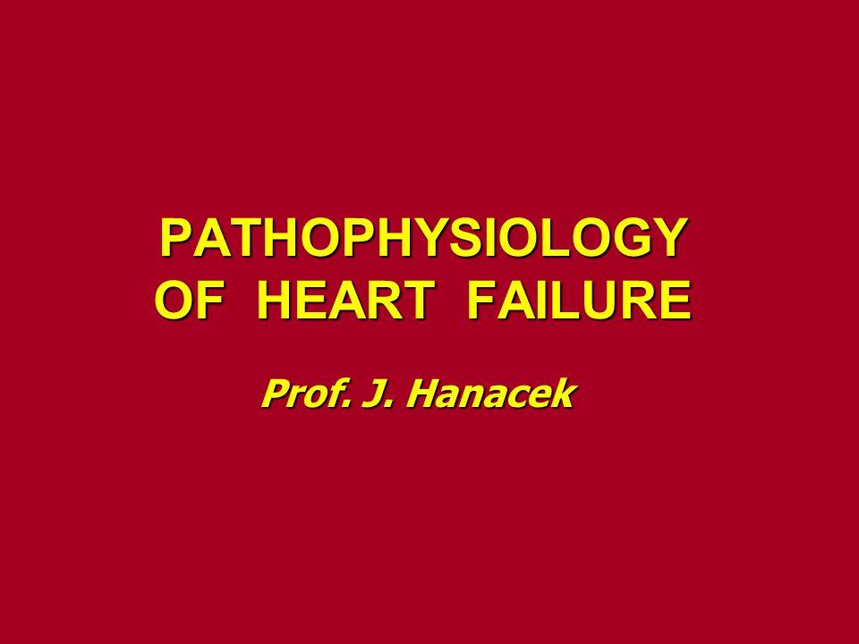 PATHOPHYSIOLOGY OF HEART FAILURE Prof. J. Hanacek