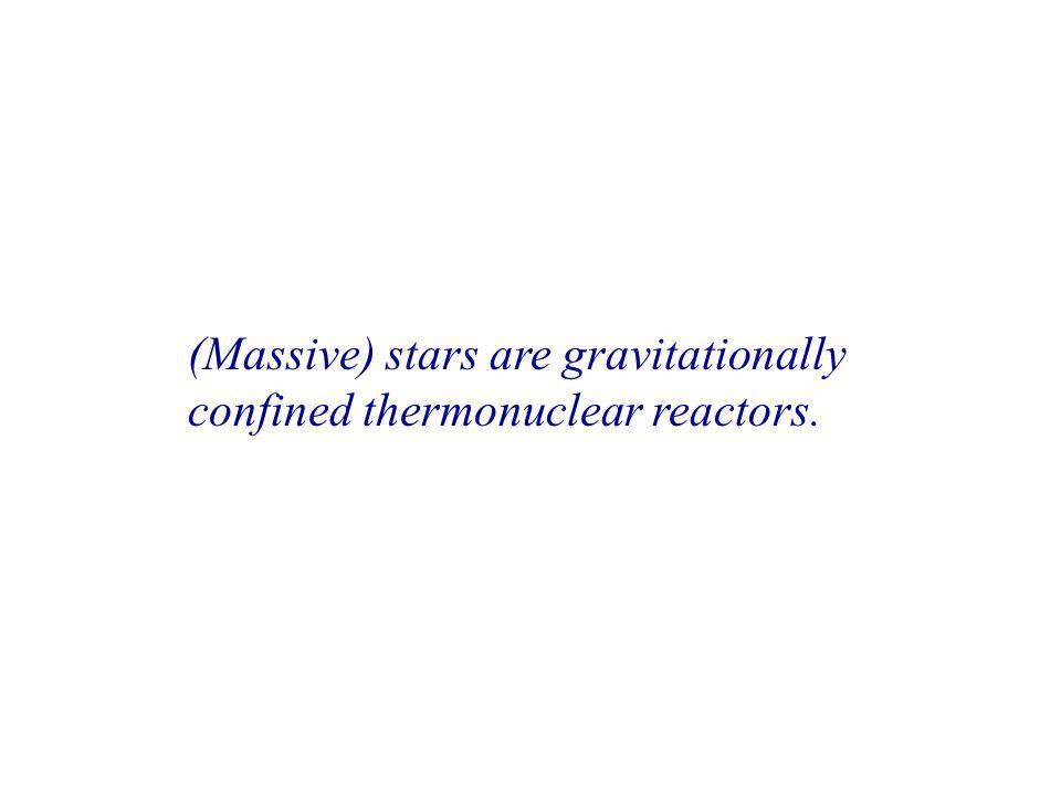(Massive) stars are gravitationally confined thermonuclear reactors.
