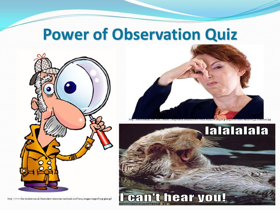 Power of Observation Quiz http://www.the-student.me.uk/thestudent/resources/nationals/unit%204/images/magnifying-glass.gif http://msnbcmedia2.msn.com/