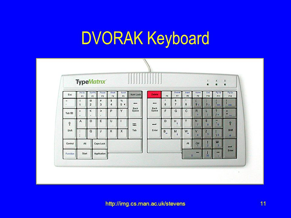 11http://img.cs.man.ac.uk/stevens DVORAK Keyboard