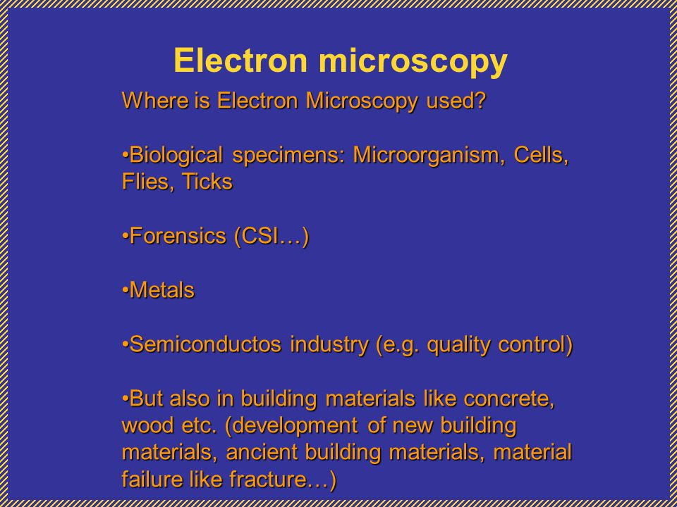 EDS Energy-Dispersive X-ray Specroscopy In principle the X-rays emission can be stimulated by any high-energy beam of charged particles, like electrons, protons, or other beam of electrons.