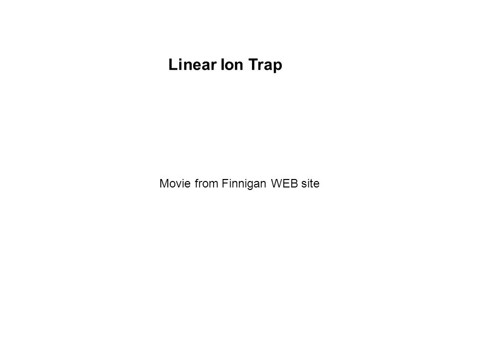 Linear Ion Trap Movie from Finnigan WEB site