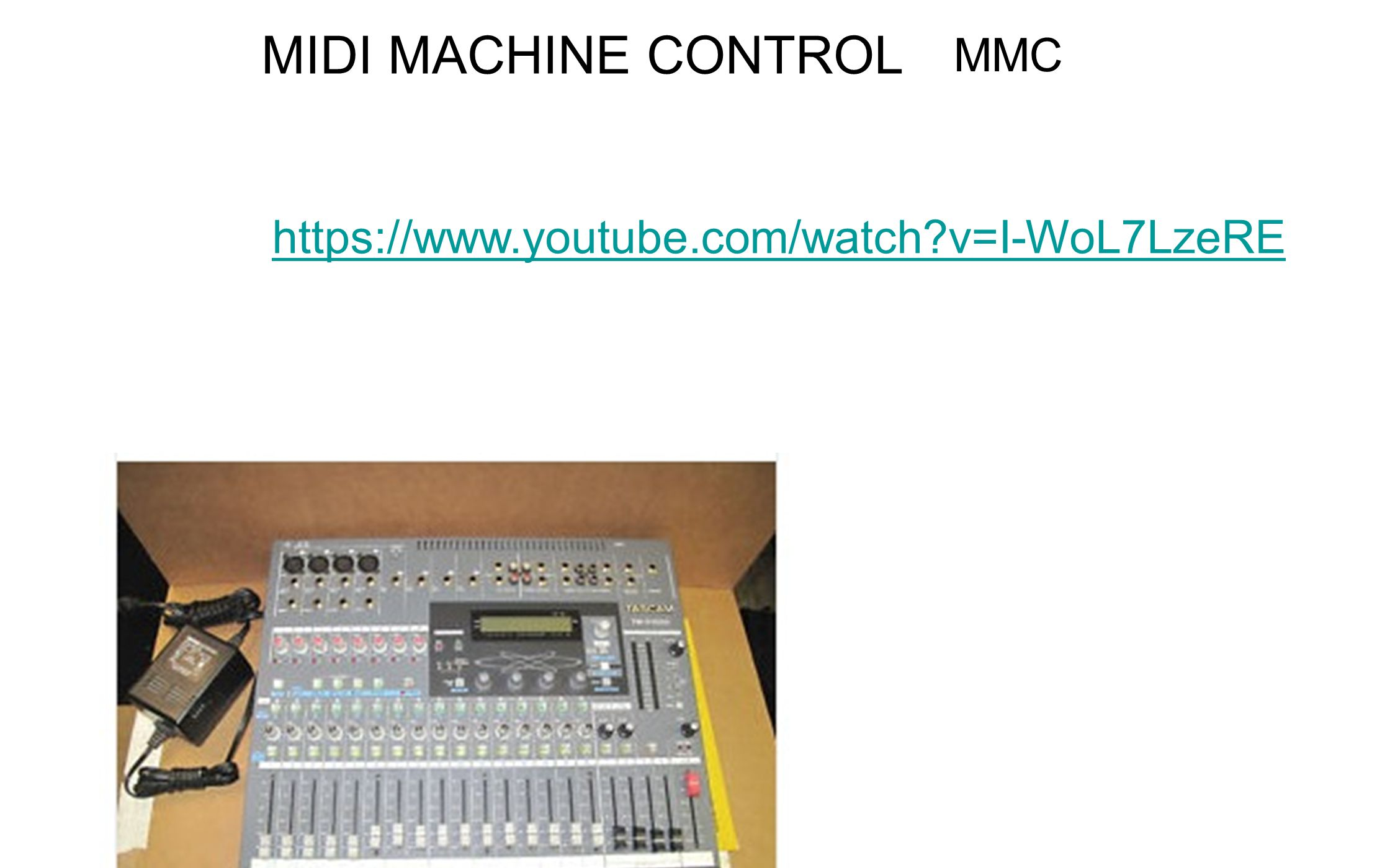 MIDI SHOW CONTROL MSC all types of entertainment control devices to talk with each othe
