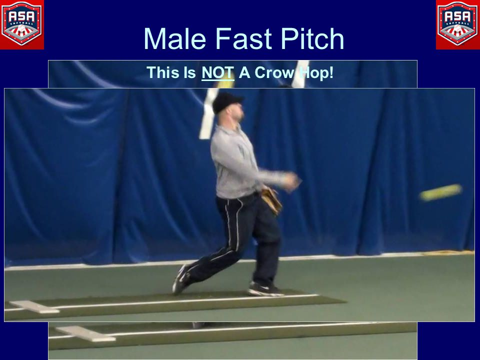 Male Fast Pitch This Is NOT A Crow Hop!