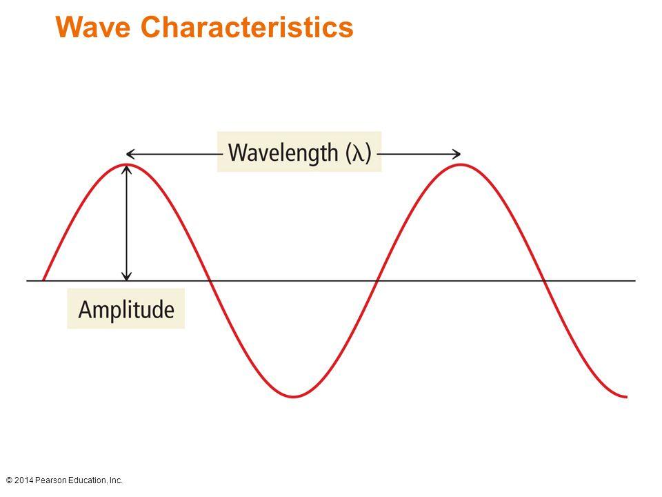 Wave Characteristics © 2014 Pearson Education, Inc.