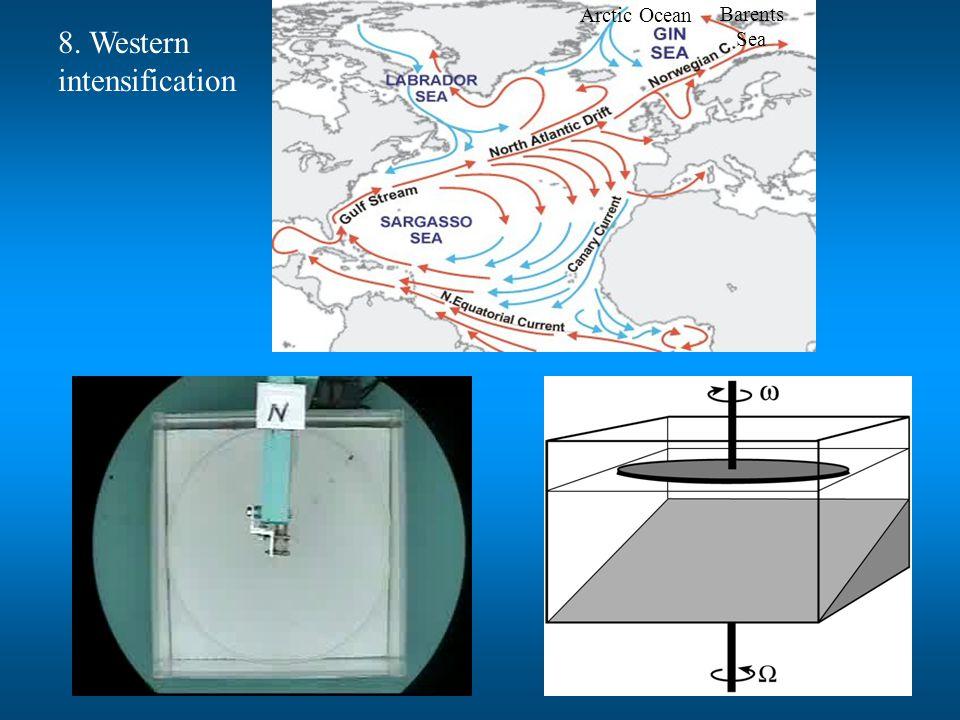 Barents Sea Arctic Ocean 8. Western intensification