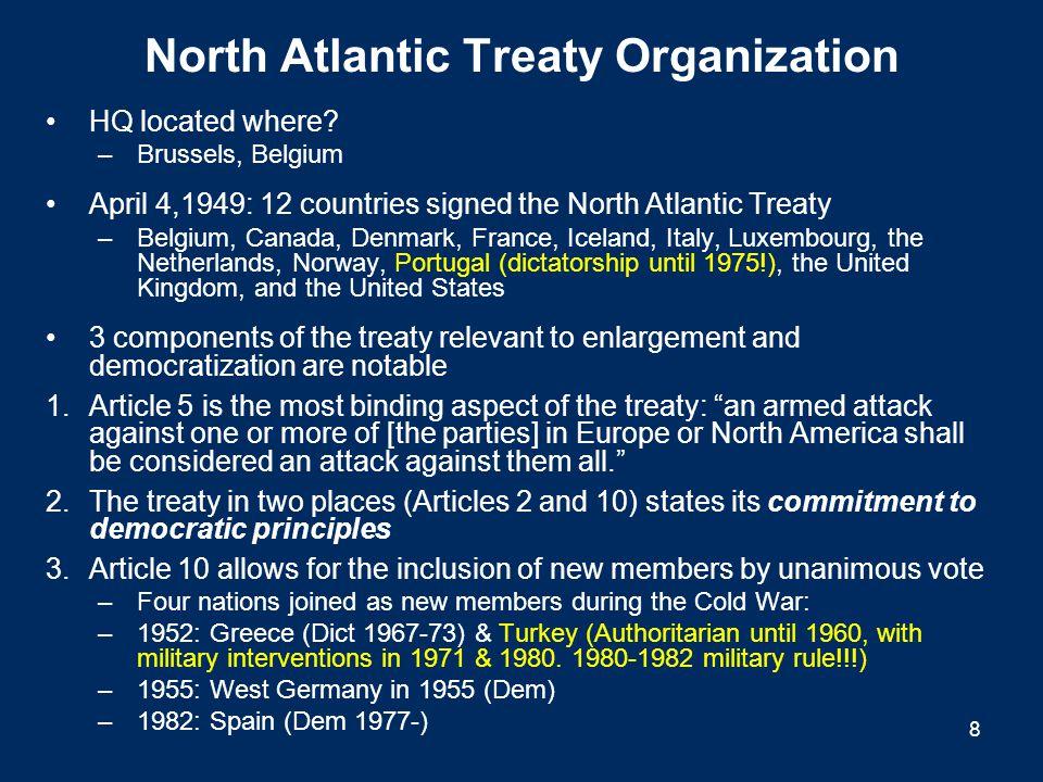 North Atlantic Treaty Organization HQ located where.
