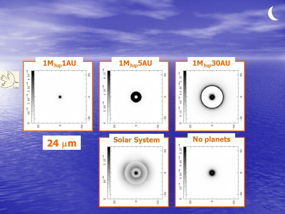 1M Jup 1AU1M Jup 5AU1M Jup 30AU Solar System No planets 24  m