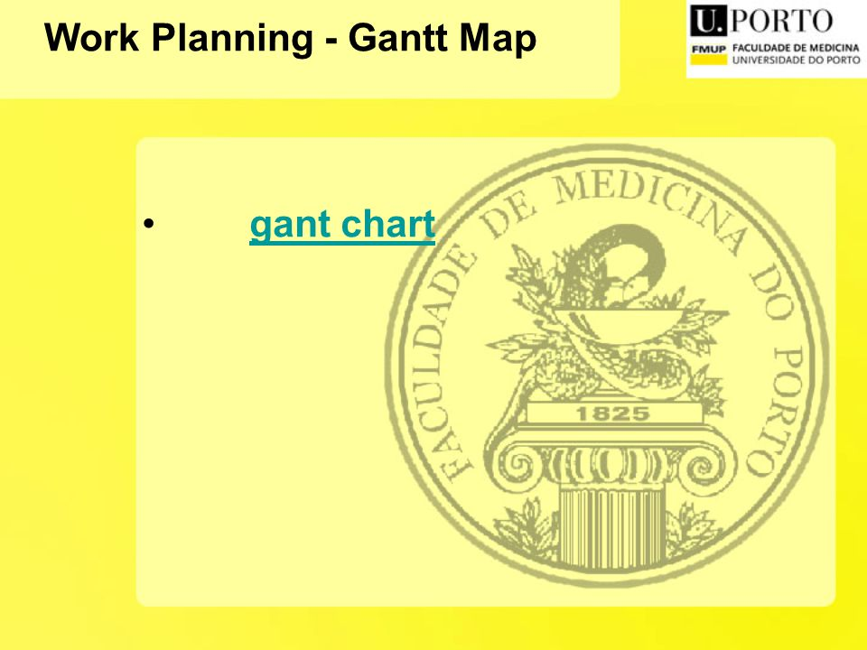 Work Planning - Gantt Map gant chart