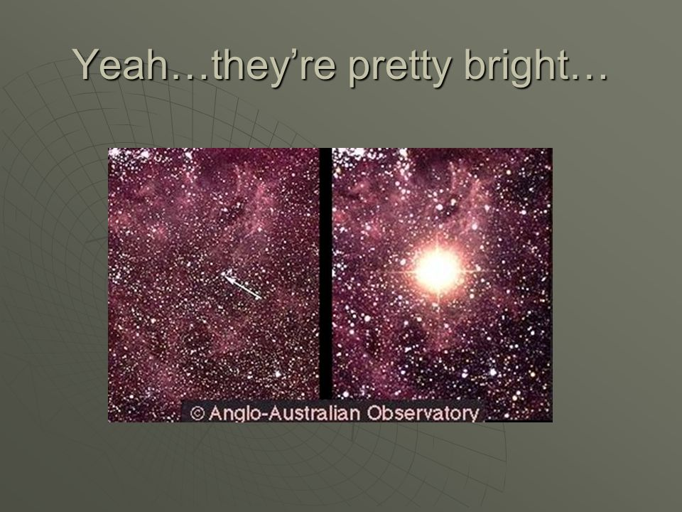 Yeah…they're pretty bright…