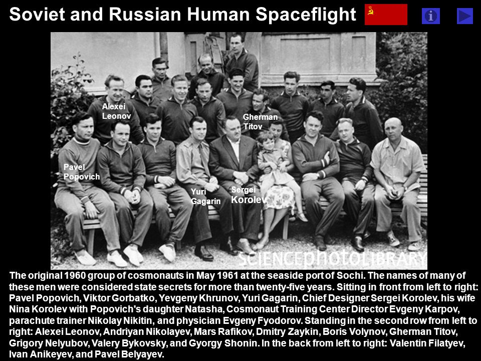 www.sciencephotowww.sciencephoto.com Riding on the Vostok-1 spacecraft, Yuri Gagarin became the first human to orbit Earth on April 12, 1961.