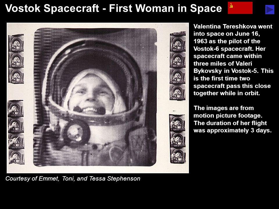 Voskhod Spacecraft - First Spacewalk Alexei Leonov completed the first spacewalk, lasting twelve minutes, on March 18, 1965.