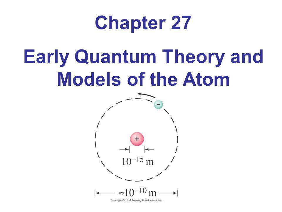 27.2 Planck's Quantum Hypothesis; Blackbody Radiation This figure shows blackbody radiation curves for three different temperatures.
