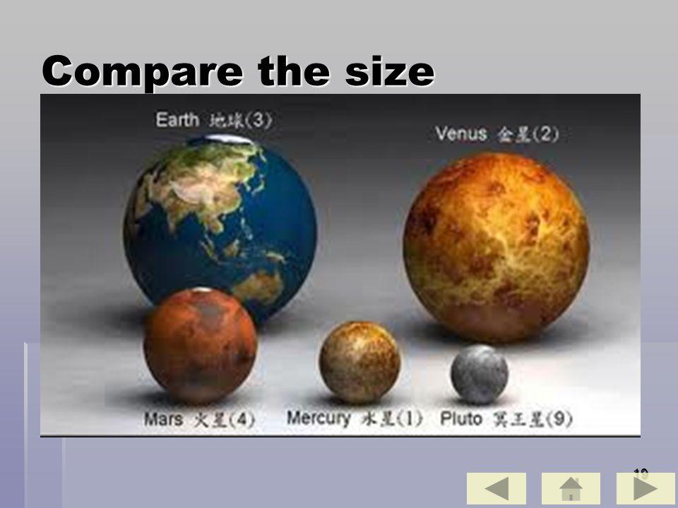 19 Compare the size