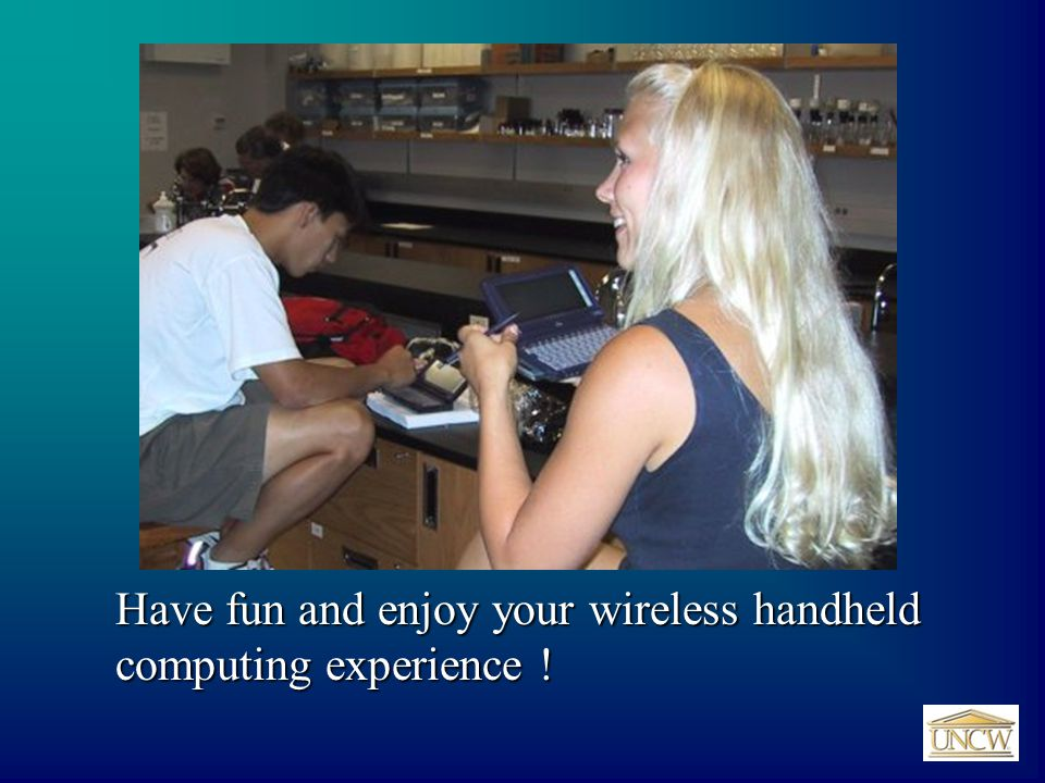 Have fun and enjoy your wireless handheld computing experience !