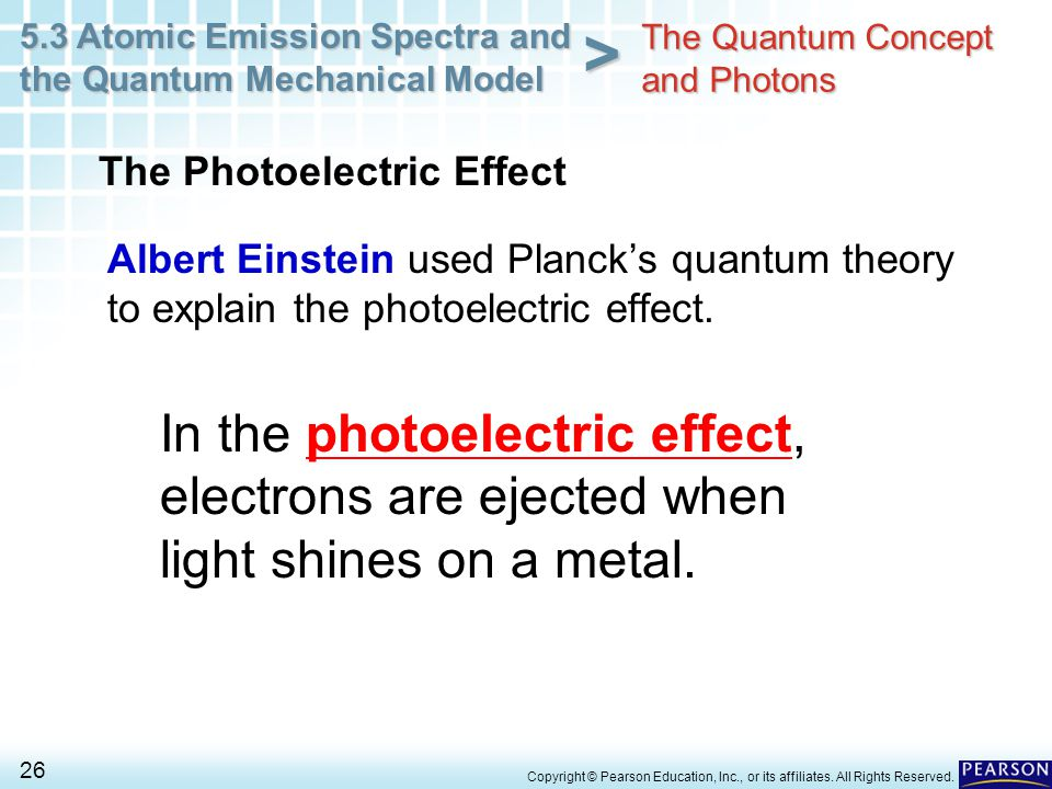5.3 Atomic Emission Spectra and the Quantum Mechanical Model 26 > Copyright © Pearson Education, Inc., or its affiliates. All Rights Reserved. Albert