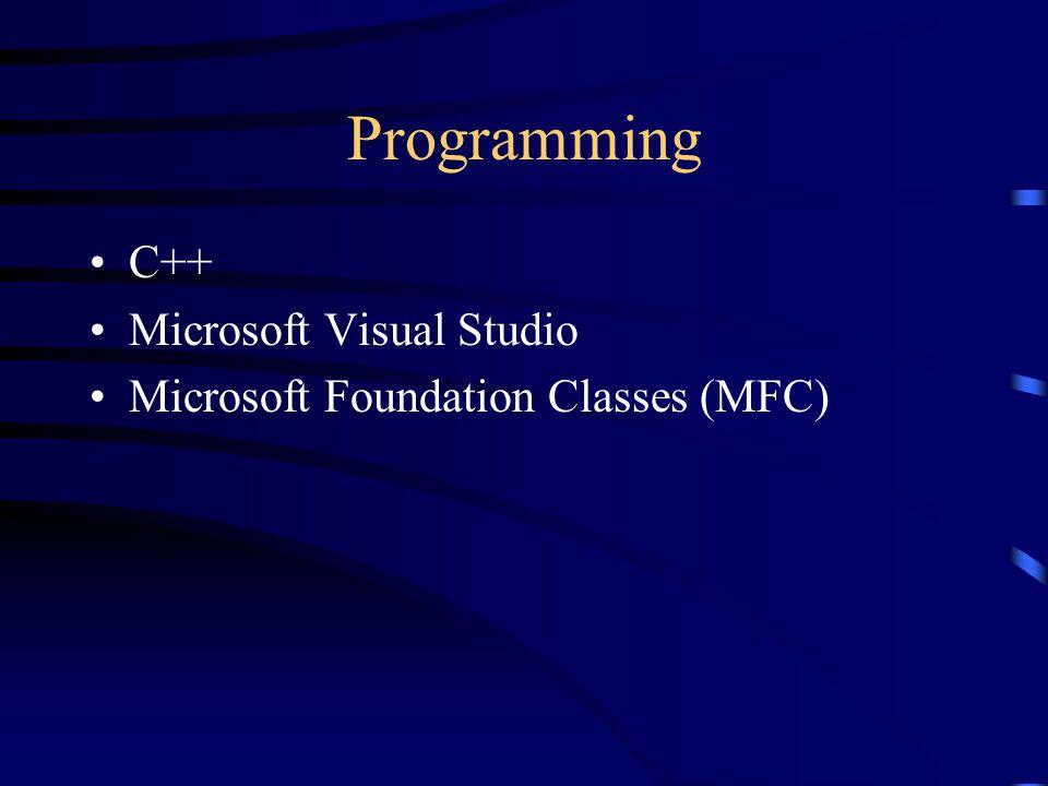 Programming C++ Microsoft Visual Studio Microsoft Foundation Classes (MFC)