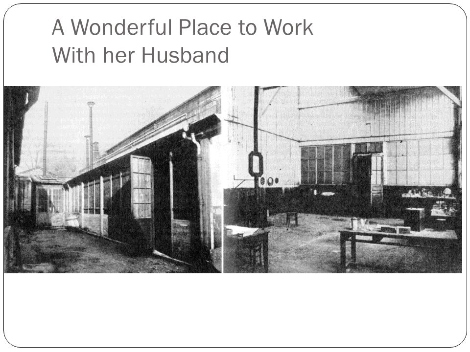 A Wonderful Place to Work With her Husband