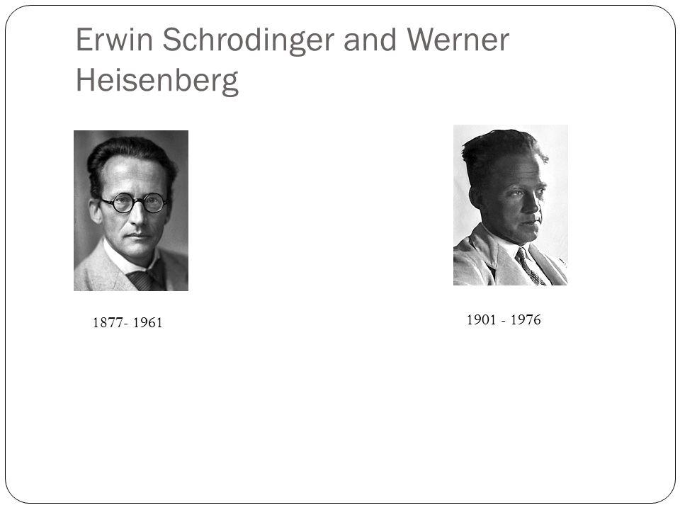 Erwin Schrodinger and Werner Heisenberg 1877- 1961 1901 - 1976