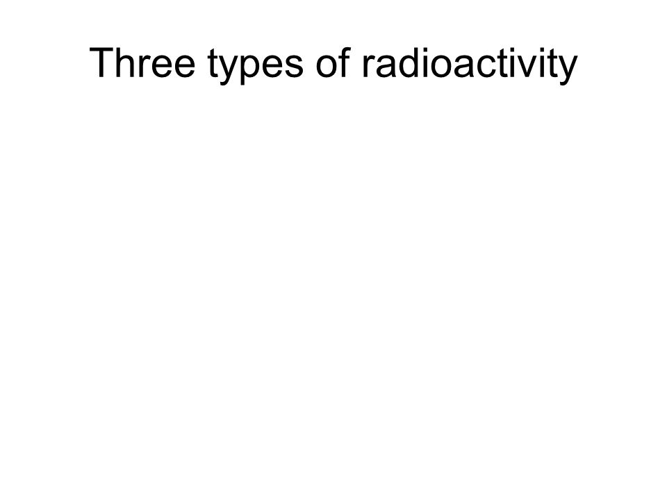 Three types of radioactivity