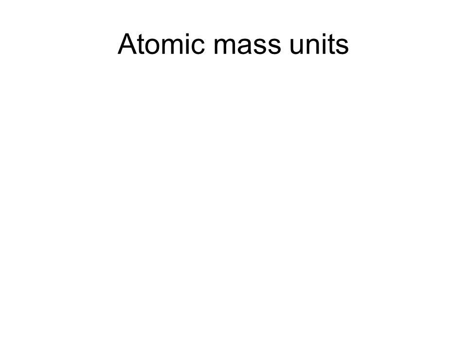 Atomic mass units