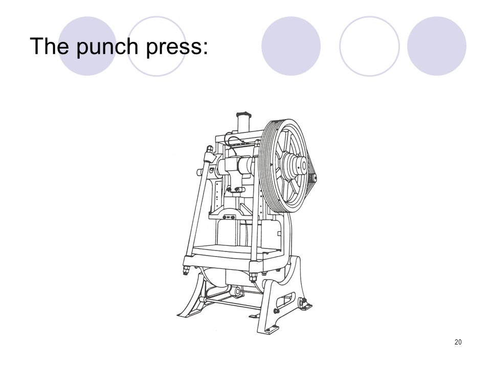 20 The punch press: