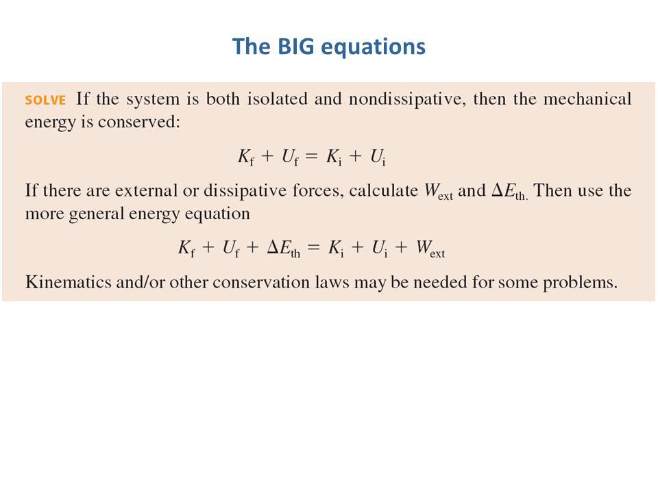 The BIG equations