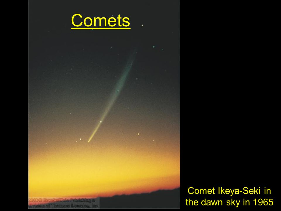 Comets Comet Ikeya-Seki in the dawn sky in 1965