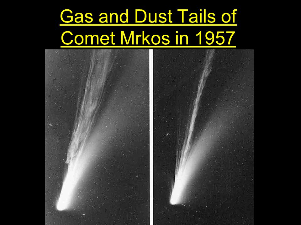 Gas and Dust Tails of Comet Mrkos in 1957