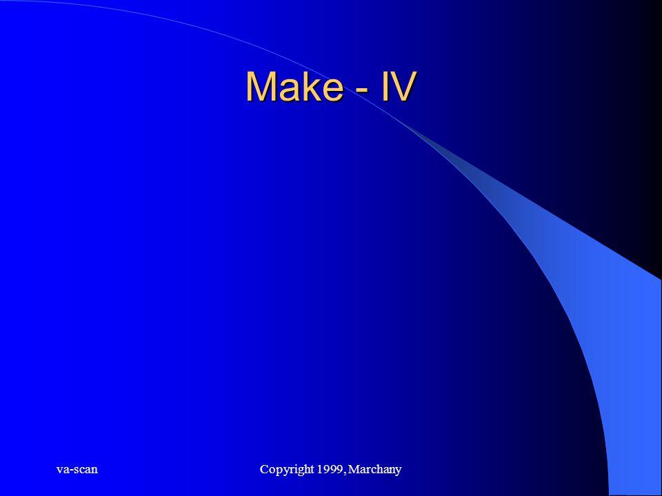 va-scanCopyright 1999, Marchany Make - IV