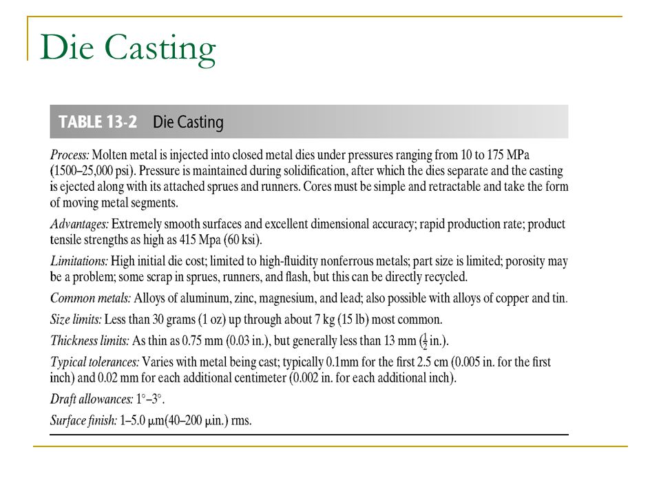Figure 13-6 (Below) Principal components of a hot-chamber die-casting machine.