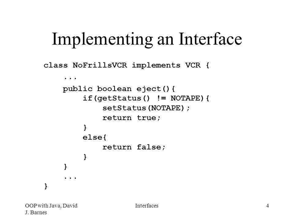 OOP with Java, David J.