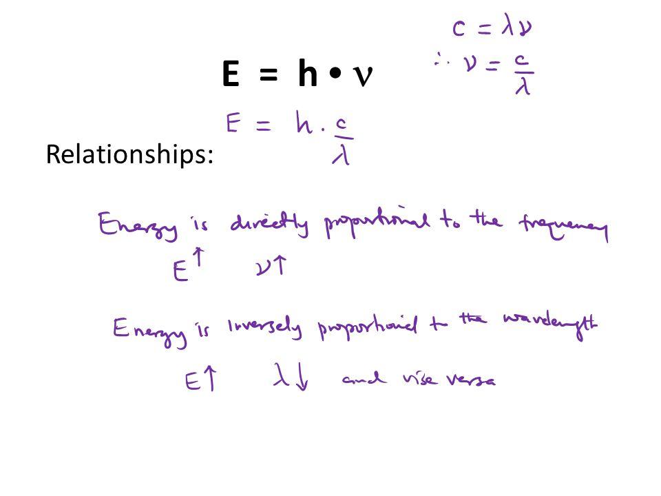 Relationships: E = h