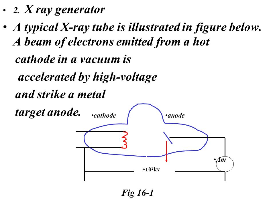 2. X ray generator A typical X-ray tube is illustrated in figure below.