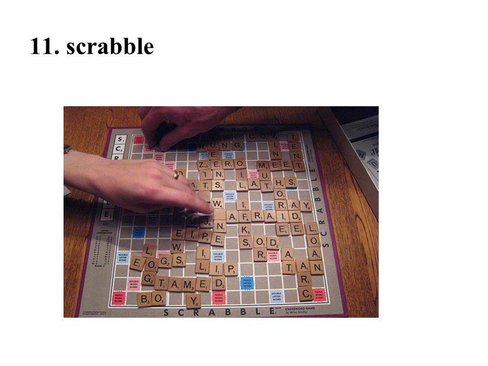 11. scrabble