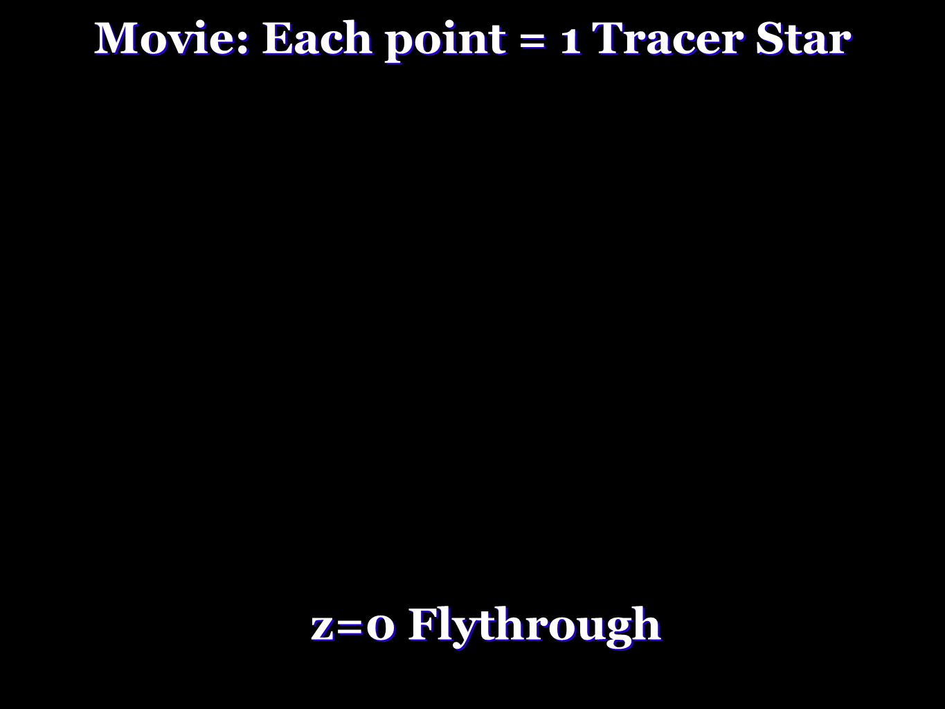Movie: Each point = 1 Tracer Star z=0 Flythrough