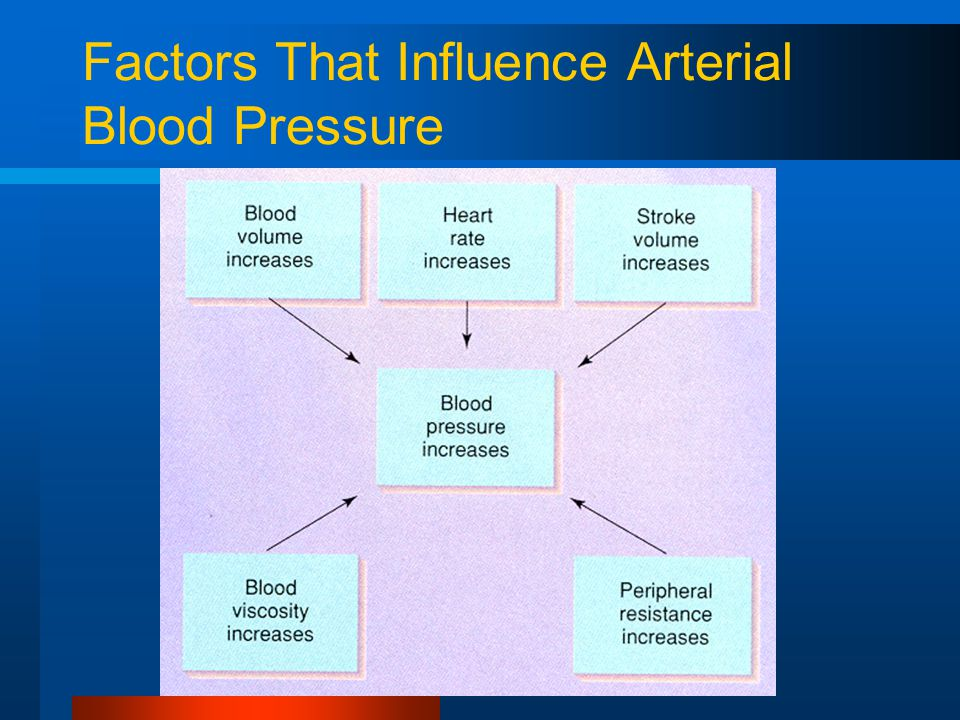 Factors That Influence Arterial Blood Pressure