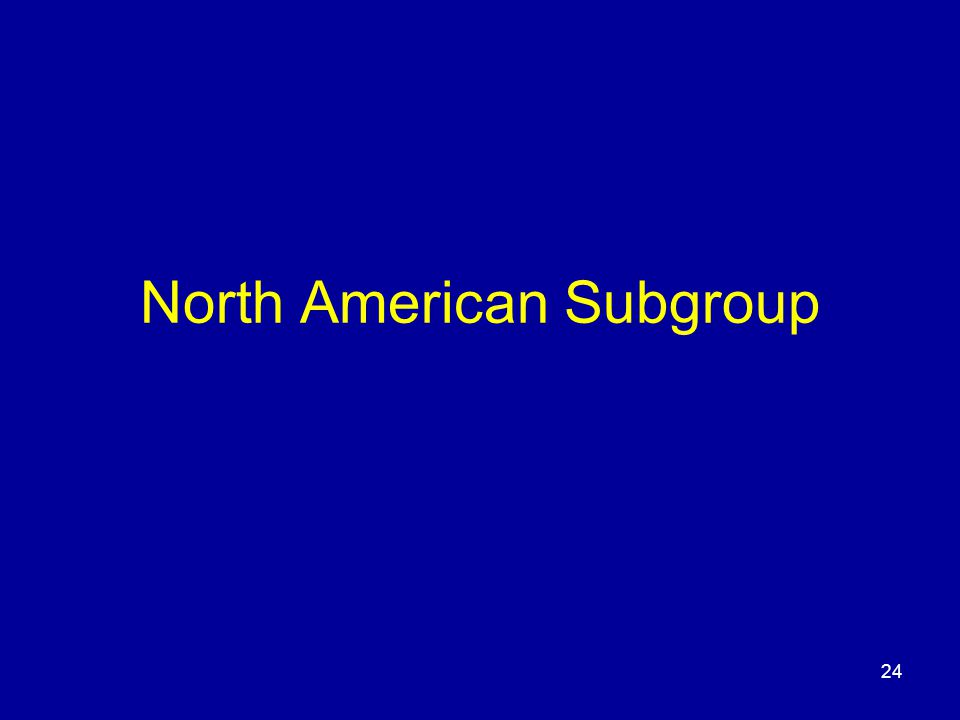 24 North American Subgroup