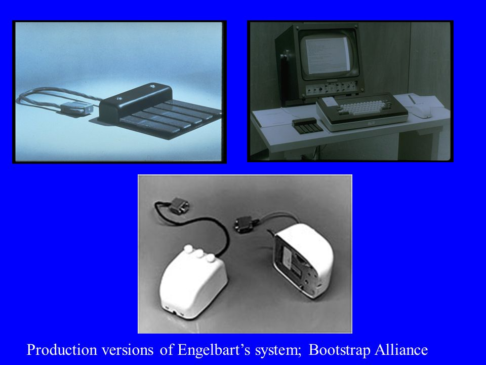 Production versions of Engelbart's system; Bootstrap Alliance