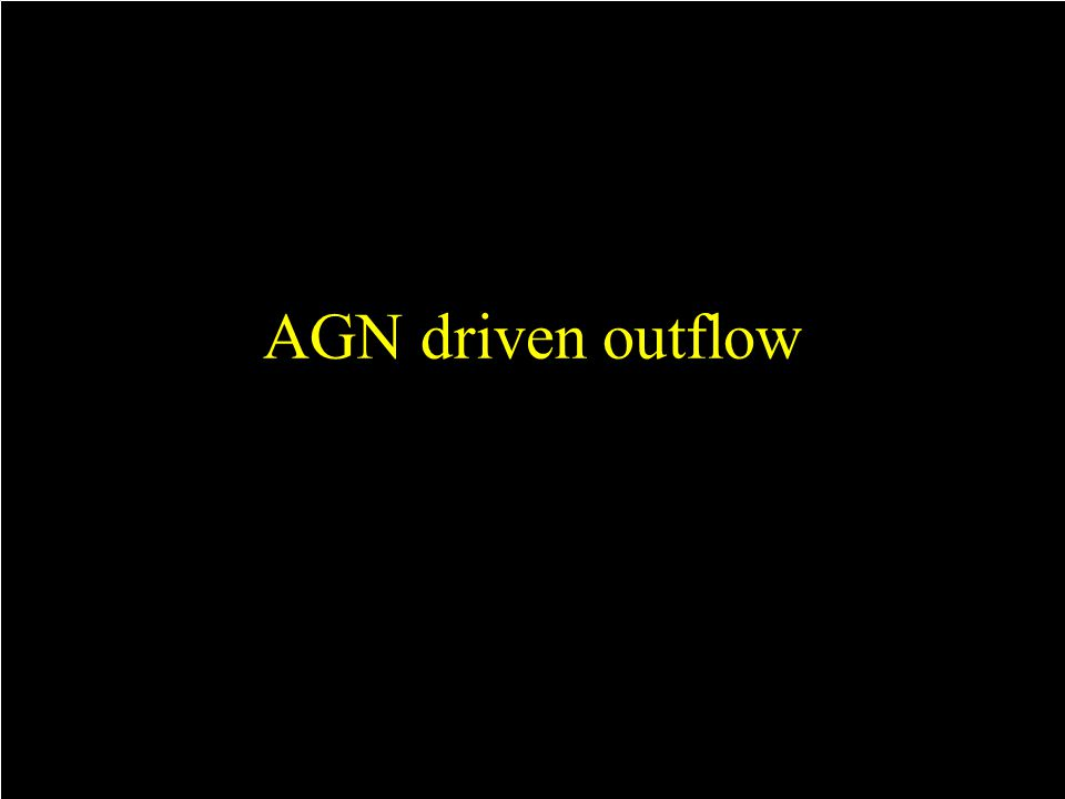 AGN driven outflow