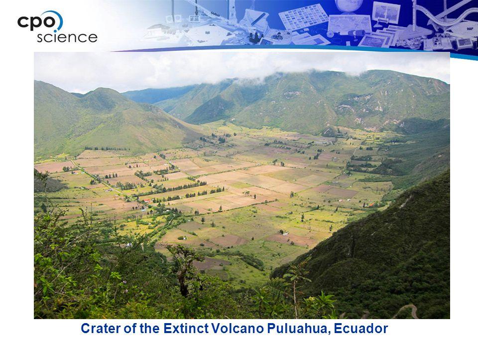Crater of the Extinct Volcano Puluahua, Ecuador