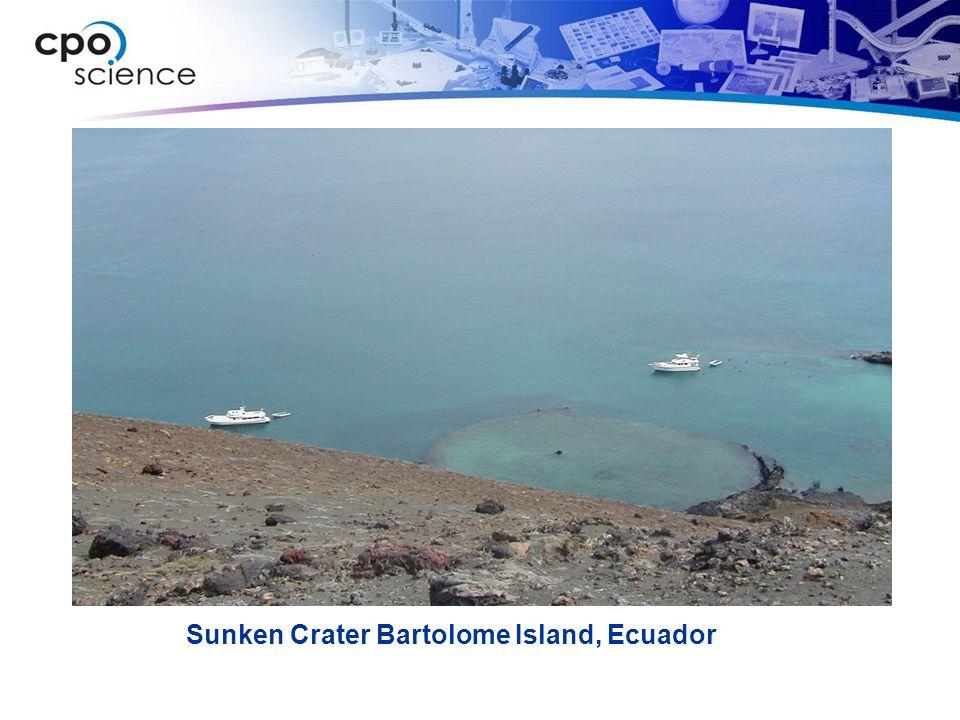 Sunken Crater Bartolome Island, Ecuador