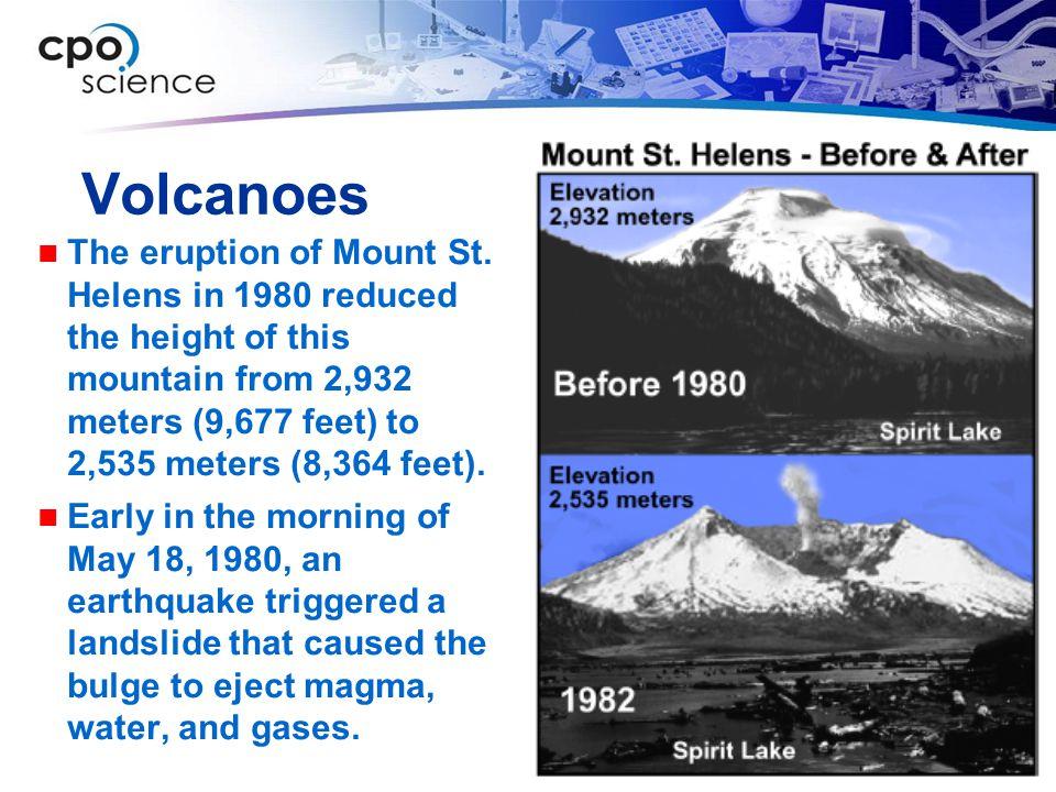 Volcanoes The eruption of Mount St.