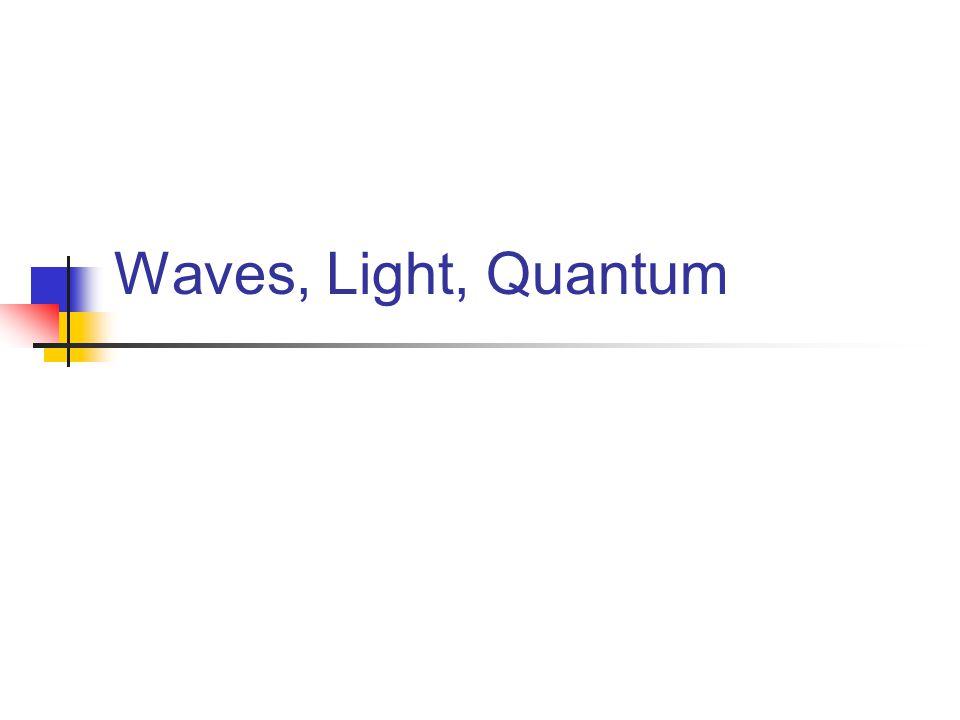Waves, Light, Quantum