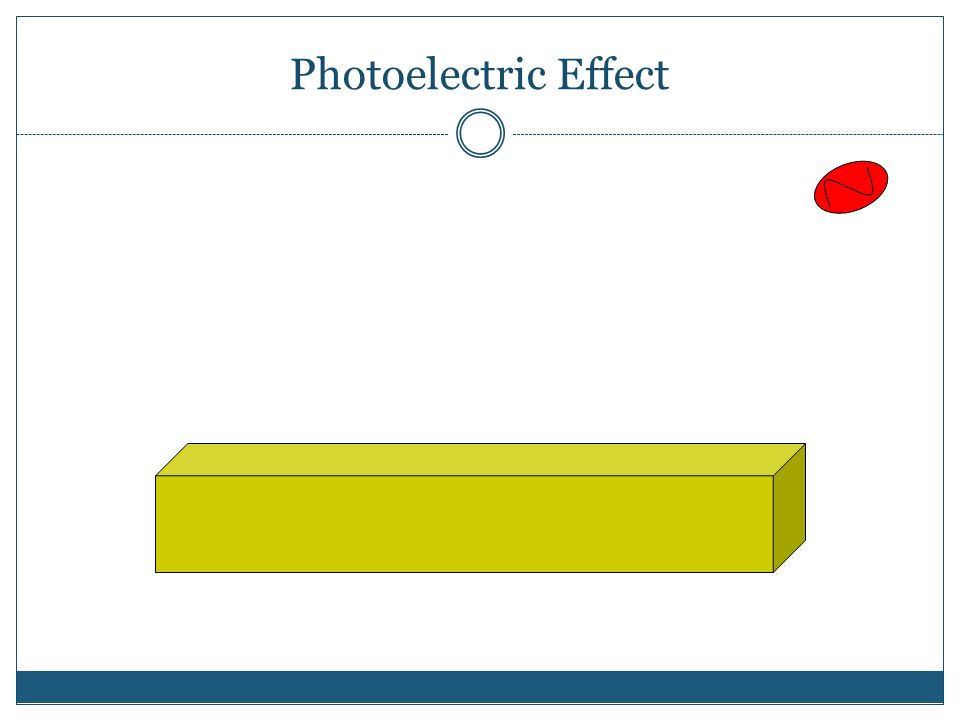► When red light hits the metal foil, the foil does not emit (give off) electrons.