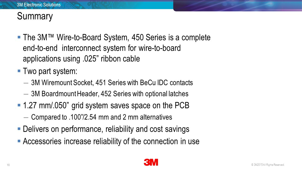 3M Electronic Solutions 16 29 April 2015.