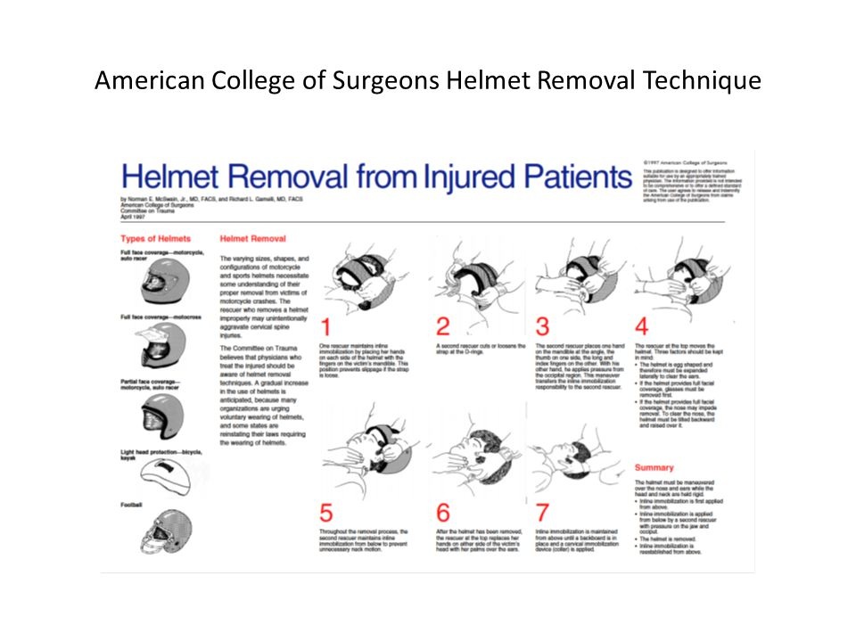 American College of Surgeons Helmet Removal Technique