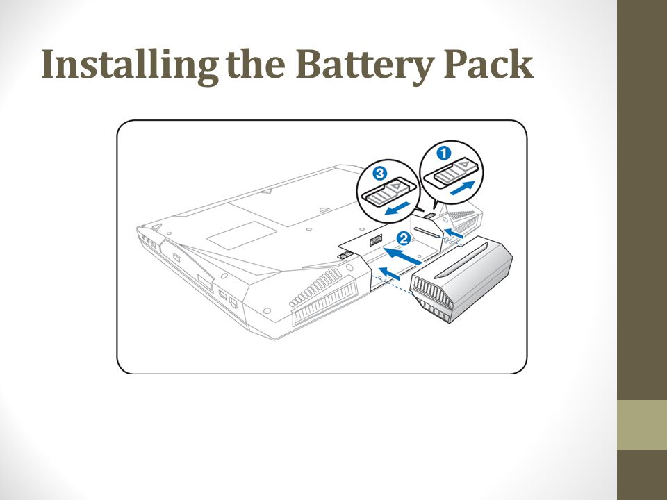 Installing the Battery Pack