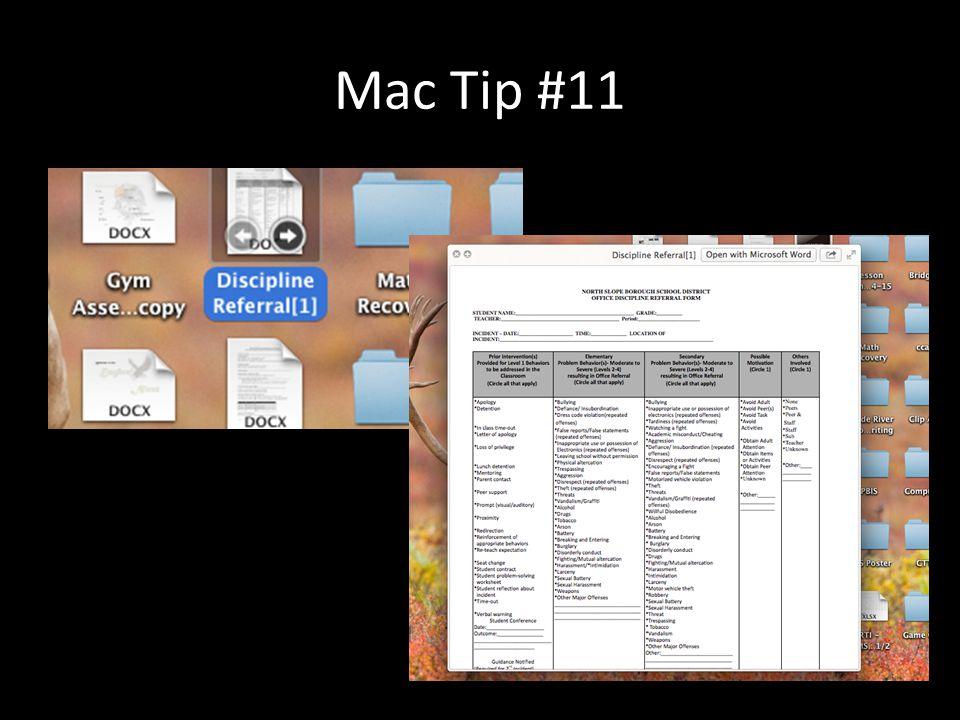 Mac Tip #11